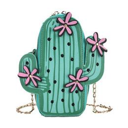 $enCountryForm.capitalKeyWord Australia - 2018 Cactus Small Chain Bucket Bag Women Green Shoulder Bag Designer Zipper Messenger Bag Crossbody Female Cute Purses Handbags Y19061903