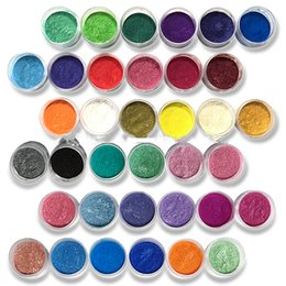 $enCountryForm.capitalKeyWord Australia - 10ml Cosmetic Pigment Powders Safe To Use For Lipstick,makeup,eyeshadow,soap 54 Colors Pearl Powder Pigments For Nail Art