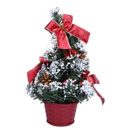 Christmas Decor Gifts Australia - Mini Christmas Tree Ornament Desk Table Festival Xmas Party Decor Gifts 25cm