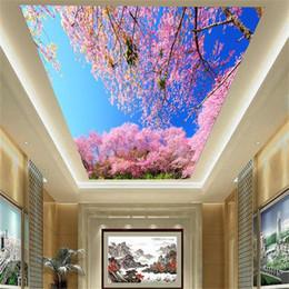 $enCountryForm.capitalKeyWord Australia - custom size 3d photo wallpaper living room ceiling mural sky cloud cherry blossoms tree 3d picture backdrop wallpaper non-woven wall sticker