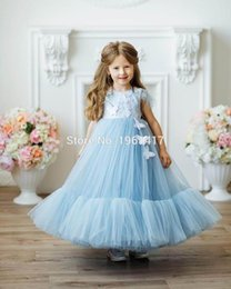 princess baby frocks UK - Kids Princess Dresses for Girls Children Feather Beading Gowns Toddler Birthday Party Frocks Boutique Baby Dresses AG0117