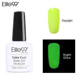 Glow dark nails polish online shopping - Elite99 ML Candy Colors Nail Polish Glow in the Dark Nail Polish Fluorescent Art Enamel for Art Design