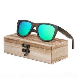 handmade sunglasses Canada - Sunglasses 2019 New fashion Products Men Women Glasses Bamboo Sunglasses Retro Vintage Wood Lens Wooden Frame Handmade