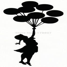 $enCountryForm.capitalKeyWord Canada - HotMeiNi Wholesale 20pcs lot Flying Balloons Girl Vinyl Decal Car Rear Windshield Truck SUV Laptop Kayak Sticker Banksy Graffiti Art