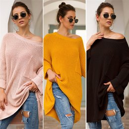 $enCountryForm.capitalKeyWord Australia - Autumn Winter Knitted Sweater Women Medium Designer Sweatshirt Knitwear Casual Loose Sweaters Pullover Long Sleeve Knit Sweater Top Clothes
