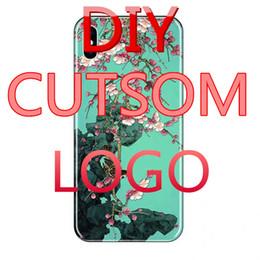Custom Printed Iphone Cases Australia - Custom Design DIY Logo Photo Hard Phone Case For 5 5S SE 6 6S 7 Plus Customized Printed Back Cover