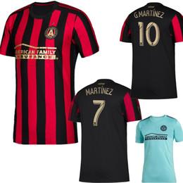a4375b0f1 SIZE S-2XL 2019 MLS Atlanta United FC Home red black Mens Soccer Jerseys 19  20  10 G.MARTINEZ  7 MARTINEZ Football Uniform Shirts 2020