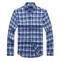 $enCountryForm.capitalKeyWord Australia - ralph polo lauren mens shirt designer mens luxury shirts classic Plaid stripe shirts large size loose leisure coat business long sleeve shir
