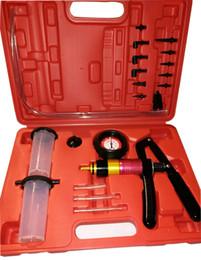 Pressure Connectors Australia - DHL 21Pc Hand Held Vacuum Pressure Pump Tester Brake Fluid Bleeder Bleeding Kit