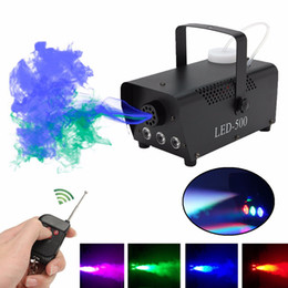500W Wireless Control LED Fog Smoke Machine Remote RGB Color Smoke Ejector LED Professional DJ Party Stage Light on Sale