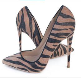 $enCountryForm.capitalKeyWord Australia - 19 brown Horse hair Single shoes Cusp Fine heel Women's high heel shoes 8cm 12cm 10cm large size 44 wedding dress nightclub Red bottom shoes