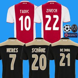 33f407910 2018 2019 camiseta de fútbol de ajax en casa camiseta de fútbol de casa de  ZIYECH DOLBERG HUNTELAAR Camiseta 18 19 Ajax Amsterdam maillot VAD DE BEEK  SCHONE
