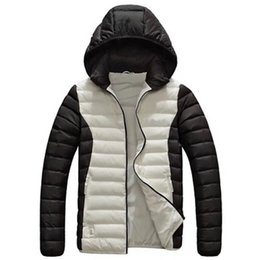 L Hats Australia - Mens Desigenr Winter Coats Brand Printed Sports Jackets 5 Colors Plus Size Hooded Jacket Hat Detachable Designs L - 6XL
