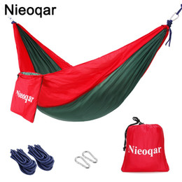 carbon tent Australia - ultralight 1-2 person hammocks outdoor camping traveling hiking sleeping bed picnic swing tent single tent Red, green 230*90CM