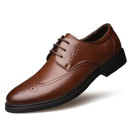 Mens wingtip dress shoes online shopping - mens wingtip shoes mens formal shoes genuine leather brown dress oxford shoes for men italian dames schoenen buty damskie