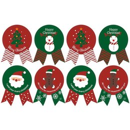 $enCountryForm.capitalKeyWord Australia - Merry Christmas Theme Gift Paper Sticker Vintage Badge Design DIY Multifunction Baking Decor Package Sealing Gift Sticker Label