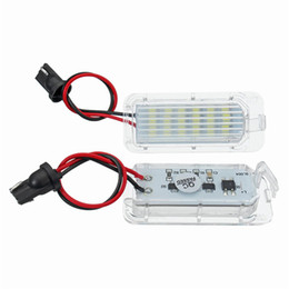 ford fiesta lamp NZ - 2pc 18-SMD LED License Plate Light Lamp Fit for Ford Focus Mondeo Fiseta 5D Error Free