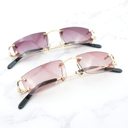 GoGGles pad online shopping - Trendy Small Sunglasses for Men Tint Carter Glasses Frame for Women Small Nose Pad Sun Glasses for Decoration Eyewear