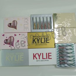 Discount kylie nudes lipstick 2017 send me more nudes kylie The Birthday Collection I want it ALL Liquid lipstick matte lipgloss 6pcs set 4pcs set