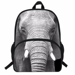 $enCountryForm.capitalKeyWord UK - Hot 16-Inch Kids Animal Backpack Elephant Print Bag For Kids Elephant Backpack Zoo Animal Bag For Children School Boys Girls