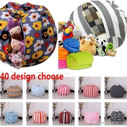 $enCountryForm.capitalKeyWord UK - 16inch Kids Storage Bean Bags Plush Toys Beanbag Chair Bedroom Stuffed Room Mats Portable Clothes Storage Bag 40 Color TY7-93