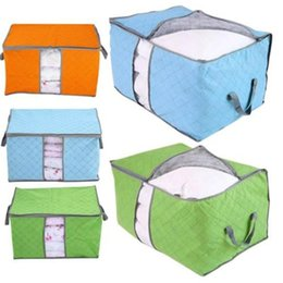 $enCountryForm.capitalKeyWord Australia - Storage Bags Zipper Handles Cloths Portable Clothes Storage Bag Organizer Folding Closet Organizer For Pillow Quilt Blanket Bedding