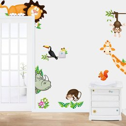 $enCountryForm.capitalKeyWord Australia - Wall Stickers Bedroom PVC Wall Stickers For Baby Rooms Jungle Animal Kids Baby Nursery Child Home Decor Mural Decal K521