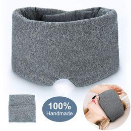 Wholesale 100 Handmade Cotton Sleep Mask Blackout Comfortable and Breathable Eye Mask for Sleeping Adjustable Blinder Blindfold Airplane