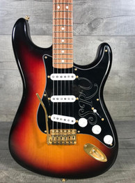 Bridge machine online shopping - Custom Minty Condition Stevie Ray Vaughn Ocaster SRV Sunburst Electric Guitar Alder Body Gotoh Vintage Tuning Machines Tremolo Bridge
