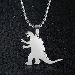 Dinosaur Cartoon Movie Australia - Men Classic Style Hip-hop Dinosaur Pendant Necklace Fashion Jewelry For Men Women Gifts