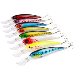 fishing depth NZ - 50pcs Big Minnow Depth Fishing Lures 28g 16.5cm Isca Artificial Fishing Wobblers Wholesale