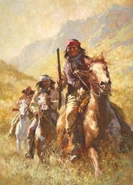 Portrait Size Australia - A374H6Legend of Geronimo by Howard Terpning High Quality Handpainted &HD Print Portrait Art Oil Painting On Canvas Multi sizes Free Shipping
