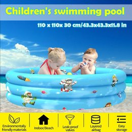 kids summer pools inflatables Australia - Inflatable Swimming Pool Paddling Kids Household Swimming Bathing Play Pool Children Family Portable Garden Backyard Summer Toy