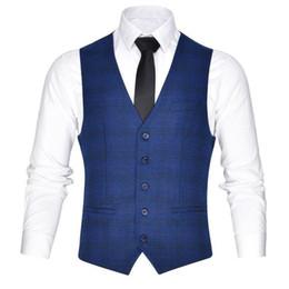 ab04d101ac23bf Männer Anzug Weste Klassische V Kragen Kleid Slim Fit Hochzeit Weste Mens  Formal Sleeveless Navy Blue Gilet 18601