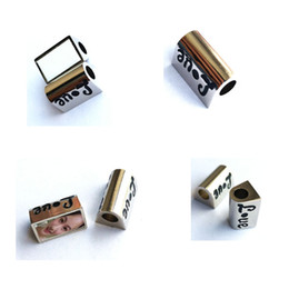 $enCountryForm.capitalKeyWord NZ - New arrival sublimation blank heart rectangle photo bead metal Slider big hole 5MM charms hot transfer printing consumables material