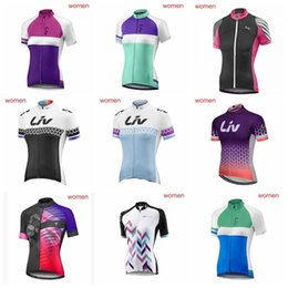 Clothes Worn Mountains Australia - LIV team Cycling Short Sleeves jersey women Cycling Clothing Quick-Dry Cycle Clothes Mountain Bicycle Wear Ropa Ciclismo 012933F