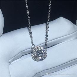 $enCountryForm.capitalKeyWord Australia - Brilliant pendant With necklace 925 Sterling silver Bijoux 5A zircon Cz Engagement wedding Pendants for women costume jewelry