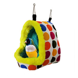 pig accessories UK - Cute Small Animal Fleece Cages Winter Warm Bed For Parrot Squirrel Guinea Pet Rabbit Hammock Hamster House Pig Cage Accessories