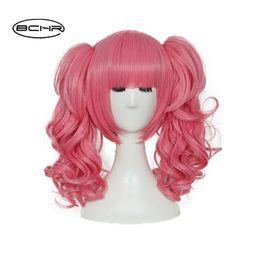$enCountryForm.capitalKeyWord UK - Lolita Heat Resistant Short Curly Pink Hair Anime Cosplay Wig With Ponytail