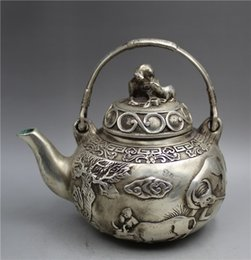 $enCountryForm.capitalKeyWord Australia - Collection Tibetan silver hand carved Cow landscape Teapot w Qianlong Mark
