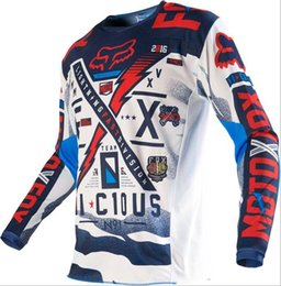 2019 New Jersey TLD Top Männer Langarm-Sommer-Cross Country-Motorrad-Bekleidung Customized Atem Cross Country-Hemd im Angebot