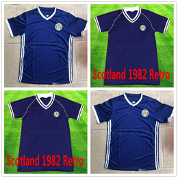 9d5ed8d7c01 2018 World Cup Scotland Soccer Jersey Retro 1982 Bule 8 BROWN 10 MARTIN 13  FORREST QSTURM National Team Custom Name Number Football Shirts