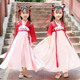 $enCountryForm.capitalKeyWord Australia - Hanfu Folk Dance Costume For Kids Baby Girls Tangsuit Festival Outfits Traditional Ancient Chinese Style Prom Dresses DWY1914
