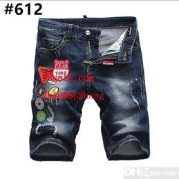 $enCountryForm.capitalKeyWord Australia - Men s Distressed Ripped Skinny Jeans Fashion Designer Shorts Jeans Slim Motorcycle Moto Biker Causal Mens Denim Pants Hip Hop Men Jeans #807
