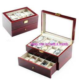 $enCountryForm.capitalKeyWord UK - wine red Wooden watch box Storage location Watches Boxes Luxury Watch Wooden Boxes Gift Box Jewelry Box 6 10 12 20 memory location boxs