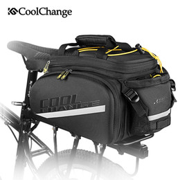 Plain Carrier Bags Australia - CoolChange Bicycle Bag Reflective Bike Bicycle Rear Seat Saddle Bags Cycling Carrier Bag Rack Panniers Waterproof With Rain Cove