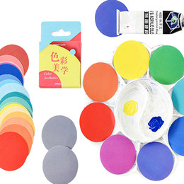sticky labels NZ - 20packs lot Kawaii Colorful Round Sticky Color Aesthetics Paper Adhesive Scrapbook Sticky Decorative Bookmark Label Wholesale