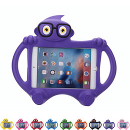 ipad stands kids Australia - New Glasses kids Case For new iPad pro 9.7 air 2 3 4 mini Cartoon EVA Foam Stand Holder Cover For 7.0 inch Tablet