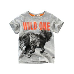 $enCountryForm.capitalKeyWord UK - Baby tshirts wild animals 100%cotton kids boys short-sleeved children clothes mix order hot sale Tees T-shirt dropship