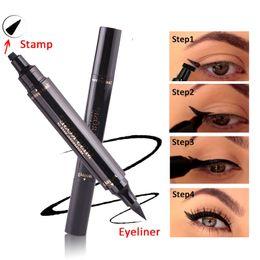 EyElinEr stamp online shopping - New Miss Rose Brand Eyes Liner Liquid Make Up Pencil Waterproof Black Double ended Makeup Stamps Eyeliner Pencil